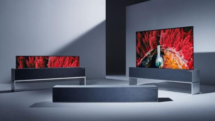 Televizor LG OLED rulant