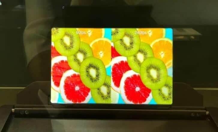 Ecran tableta cu rata de refresh de 240 Hz