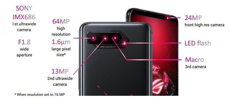 ROG Phone 5 camere