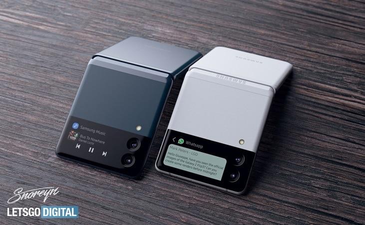 Samsung Galaxy Flip 3 randare 3d