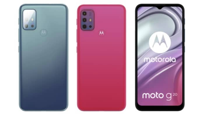 Smartphone entry-level Motorola Moto G20